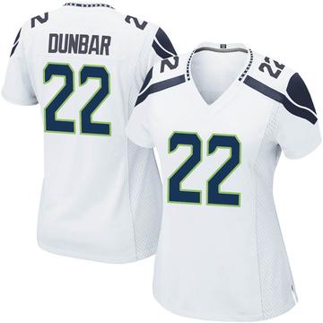 Women's Nike Seattle Seahawks Quinton Dunbar White Jersey - Game