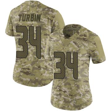 Women's Nike Seattle Seahawks Robert Turbin Camo 2018 Salute to Service Jersey - Limited
