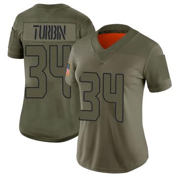 Women's Nike Seattle Seahawks Robert Turbin Camo 2019 Salute to Service Jersey - Limited