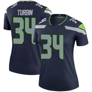 Women's Nike Seattle Seahawks Robert Turbin Navy Jersey - Legend