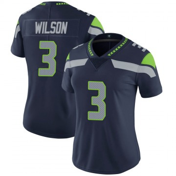 Women's Nike Seattle Seahawks Russell Wilson Navy 100th Vapor Jersey - Limited