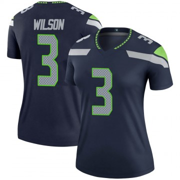 Women's Nike Seattle Seahawks Russell Wilson Navy Jersey - Legend