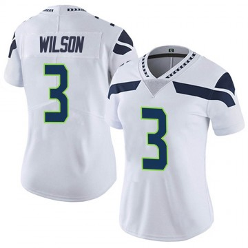 Women's Nike Seattle Seahawks Russell Wilson White Vapor Untouchable Jersey - Limited