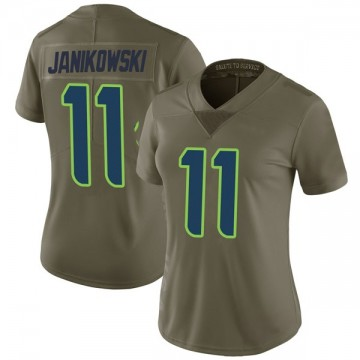 Women's Nike Seattle Seahawks Sebastian Janikowski Green 2017 Salute to Service Jersey - Limited