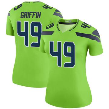 Women's Nike Seattle Seahawks Shaquem Griffin Green Color Rush Neon Jersey - Legend