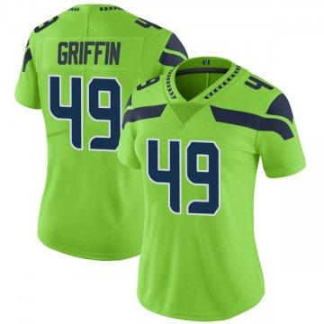 Women's Nike Seattle Seahawks Shaquem Griffin Green Color Rush Neon Jersey - Limited