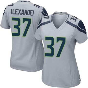 Women's Nike Seattle Seahawks Shaun Alexander Gray Alternate Jersey - Game