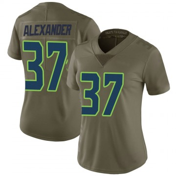 Women's Nike Seattle Seahawks Shaun Alexander Green 2017 Salute to Service Jersey - Limited