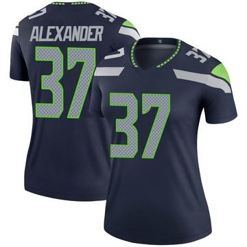 Women's Nike Seattle Seahawks Shaun Alexander Navy Jersey - Legend