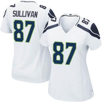 Women's Nike Seattle Seahawks Stephen Sullivan White Jersey - Game
