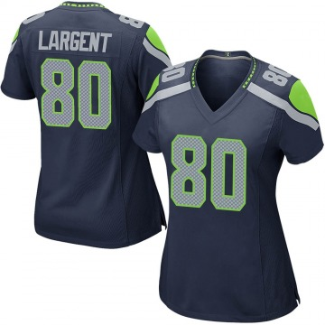 Women's Nike Seattle Seahawks Steve Largent Navy Team Color Jersey - Game