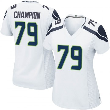 Women's Nike Seattle Seahawks Tommy Champion White Jersey - Game