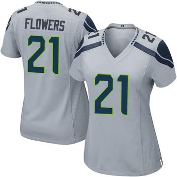 Women's Nike Seattle Seahawks Tre Flowers Gray Alternate Jersey - Game
