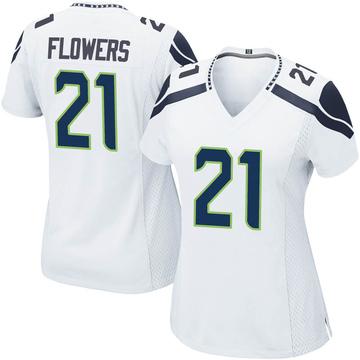 Women's Nike Seattle Seahawks Tre Flowers White Jersey - Game