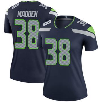 Women's Nike Seattle Seahawks Tre Madden Navy Jersey - Legend