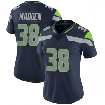 Women's Nike Seattle Seahawks Tre Madden Navy Team Color Vapor Untouchable Jersey - Limited