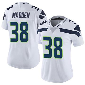 Women's Nike Seattle Seahawks Tre Madden White Vapor Untouchable Jersey - Limited
