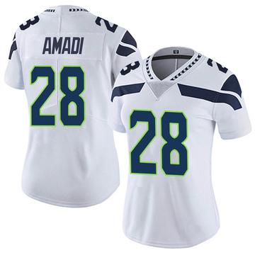 Women's Nike Seattle Seahawks Ugochukwu Amadi White Vapor Untouchable Jersey - Limited