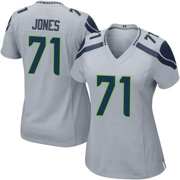 Women's Nike Seattle Seahawks Walter Jones Gray Alternate Jersey - Game