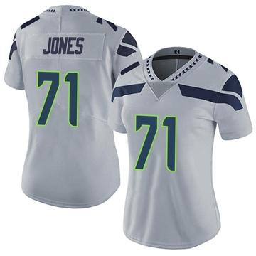 Women's Nike Seattle Seahawks Walter Jones Gray Alternate Vapor Untouchable Jersey - Limited