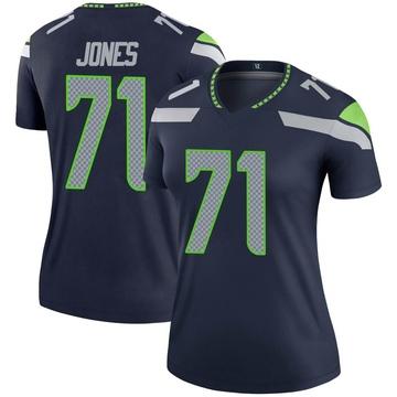 Women's Nike Seattle Seahawks Walter Jones Navy Jersey - Legend