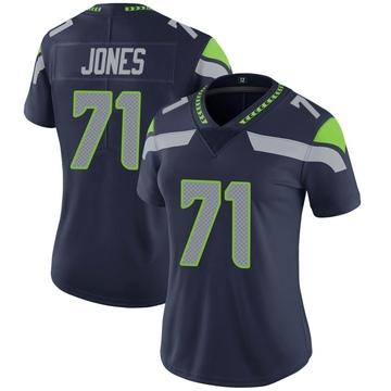 Women's Nike Seattle Seahawks Walter Jones Navy Team Color Vapor Untouchable Jersey - Limited
