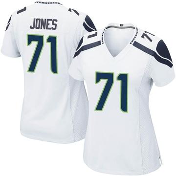 Women's Nike Seattle Seahawks Walter Jones White Jersey - Game