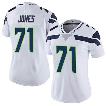 Women's Nike Seattle Seahawks Walter Jones White Vapor Untouchable Jersey - Limited