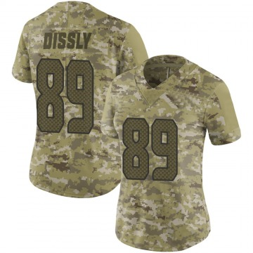 Women's Nike Seattle Seahawks Will Dissly Camo 2018 Salute to Service Jersey - Limited