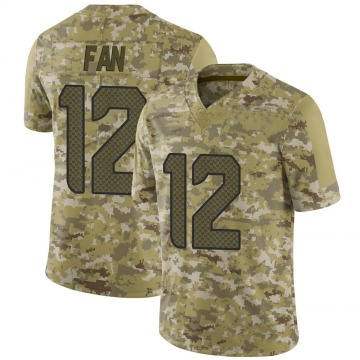 Youth Nike Seattle Seahawks 12th Fan Camo 2018 Salute to Service Jersey - Limited