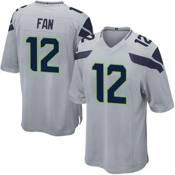 Youth Nike Seattle Seahawks 12th Fan Gray Alternate Jersey - Game
