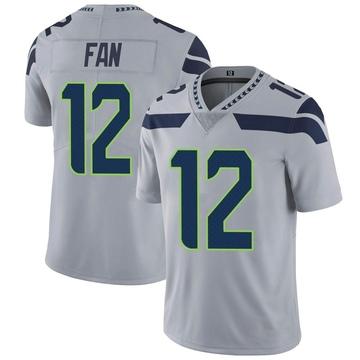 Youth Nike Seattle Seahawks 12th Fan Gray Alternate Vapor Untouchable Jersey - Limited