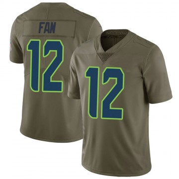Youth Nike Seattle Seahawks 12th Fan Green 2017 Salute to Service Jersey - Limited