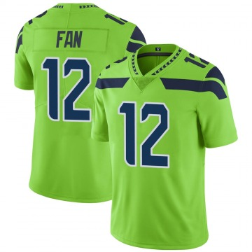 Youth Nike Seattle Seahawks 12th Fan Green Color Rush Neon Jersey - Limited