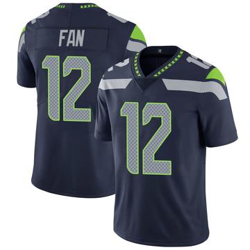 Youth Nike Seattle Seahawks 12th Fan Navy 100th Vapor Jersey - Limited
