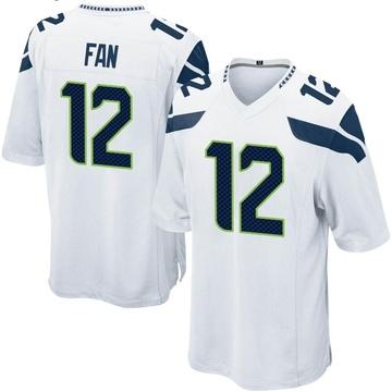 Youth Nike Seattle Seahawks 12th Fan White Jersey - Game