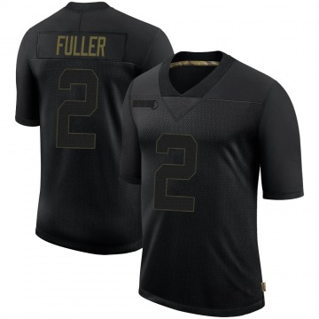 Youth Nike Seattle Seahawks Aaron Fuller Black 2020 Salute To Service Jersey - Limited