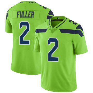 Youth Nike Seattle Seahawks Aaron Fuller Green Color Rush Neon Jersey - Limited