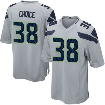 Youth Nike Seattle Seahawks Adam Choice Gray Alternate Jersey - Game