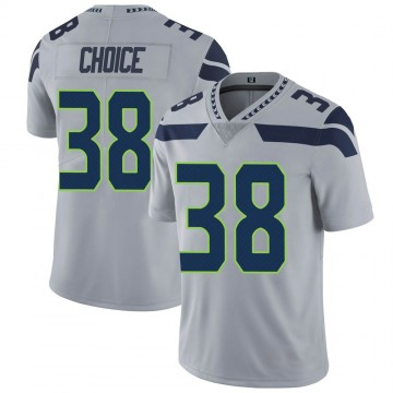 Youth Nike Seattle Seahawks Adam Choice Gray Alternate Vapor Untouchable Jersey - Limited