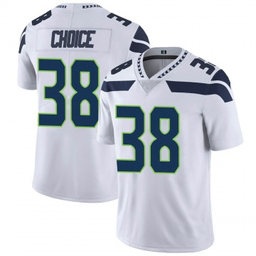 Youth Nike Seattle Seahawks Adam Choice White Vapor Untouchable Jersey - Limited