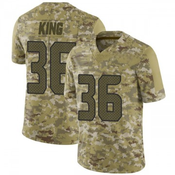 Youth Nike Seattle Seahawks Akeem King Camo 2018 Salute to Service Jersey - Limited