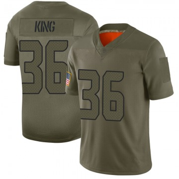Youth Nike Seattle Seahawks Akeem King Camo 2019 Salute to Service Jersey - Limited