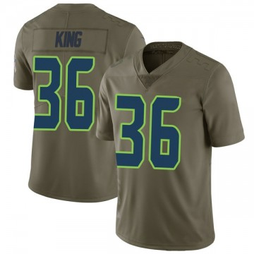 Youth Nike Seattle Seahawks Akeem King Green 2017 Salute to Service Jersey - Limited