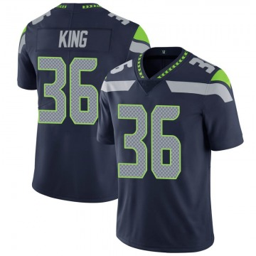 Youth Nike Seattle Seahawks Akeem King Navy 100th Vapor Jersey - Limited