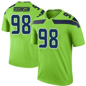 Youth Nike Seattle Seahawks Alton Robinson Green Color Rush Neon Jersey - Legend