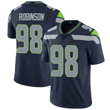 Youth Nike Seattle Seahawks Alton Robinson Navy 100th Vapor Jersey - Limited
