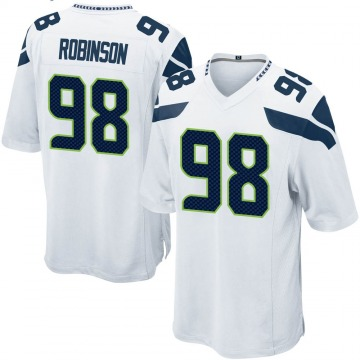 Youth Nike Seattle Seahawks Alton Robinson White Jersey - Game