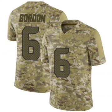 Youth Nike Seattle Seahawks Anthony Gordon Camo 2018 Salute to Service Jersey - Limited