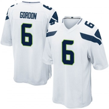 Youth Nike Seattle Seahawks Anthony Gordon White Jersey - Game